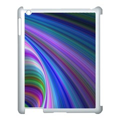 Background Abstract Curves Apple Ipad 3/4 Case (white)