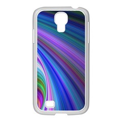 Background Abstract Curves Samsung Galaxy S4 I9500/ I9505 Case (white)