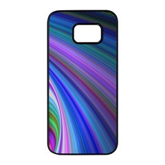 Background Abstract Curves Samsung Galaxy S7 Edge Black Seamless Case