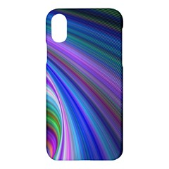 Background Abstract Curves Apple Iphone X Hardshell Case
