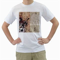 Art Collage Design Colorful Color Men s T Shirt (white)