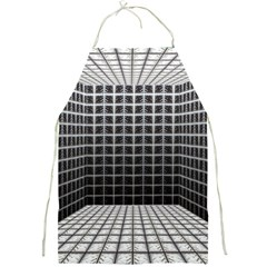 Space Glass Blocks Background Full Print Aprons by Nexatart