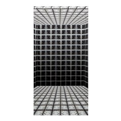 Space Glass Blocks Background Shower Curtain 36  X 72  (stall)