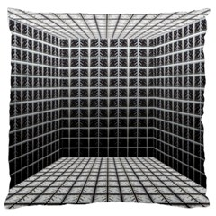 Space Glass Blocks Background Large Cushion Case (two Sides) by Nexatart