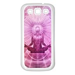 Meditation Spiritual Yoga Samsung Galaxy S3 Back Case (White) Front