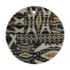 Fabric Textile Abstract Pattern Round Ornament (two Sides)