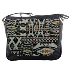 Fabric Textile Abstract Pattern Messenger Bags