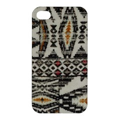 Fabric Textile Abstract Pattern Apple Iphone 4/4s Premium Hardshell Case