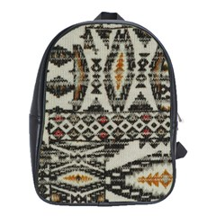 Fabric Textile Abstract Pattern School Bag (xl)