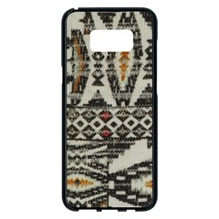 Fabric Textile Abstract Pattern Samsung Galaxy S8 Plus Black Seamless Case by Nexatart