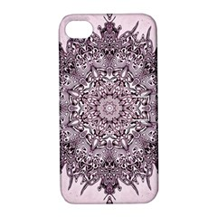 Mandala Pattern Fractal Apple Iphone 4/4s Hardshell Case With Stand