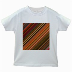 Background Texture Pattern Kids White T Shirts