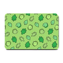 Funny Greens And Salad Small Doormat  by Mishacat