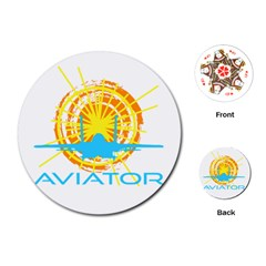 Aviator Playing Cards (round)  by FunnyCow