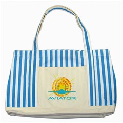 Aviator Striped Blue Tote Bag by FunnyCow