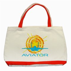 Aviator Classic Tote Bag (red) by FunnyCow