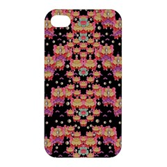 Fantasy Flower Ribbon And Happy Florals Festive Apple Iphone 4/4s Premium Hardshell Case by pepitasart