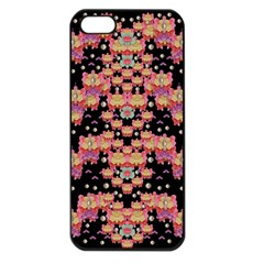 Fantasy Flower Ribbon And Happy Florals Festive Apple Iphone 5 Seamless Case (black) by pepitasart