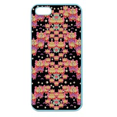 Fantasy Flower Ribbon And Happy Florals Festive Apple Seamless Iphone 5 Case (color) by pepitasart