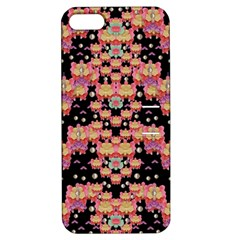 Fantasy Flower Ribbon And Happy Florals Festive Apple Iphone 5 Hardshell Case With Stand by pepitasart
