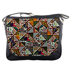 Patchwork Pattern Messenger Bags