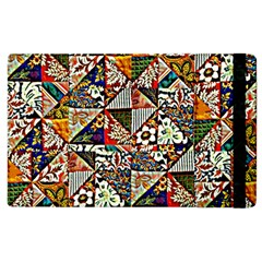 Patchwork Pattern Apple Ipad 2 Flip Case by bywhacky