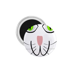Cat Green Eyes Happy Animal Pet 1 75  Magnets