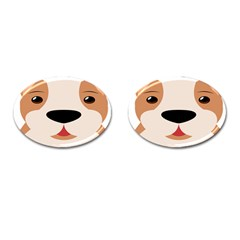 Dog Animal Boxer Family House Pet Cufflinks (oval) by Sapixe
