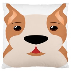 Dog Animal Boxer Family House Pet Standard Flano Cushion Case (one Side) by Sapixe