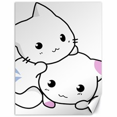 Kitty Cuddling Cat Kitten Feline Canvas 18  X 24   by Sapixe