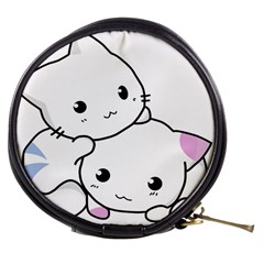 Kitty Cuddling Cat Kitten Feline Mini Makeup Bags by Sapixe
