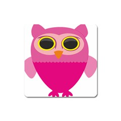 Sowa Owls Bird Wild Birds Pen Square Magnet by Sapixe