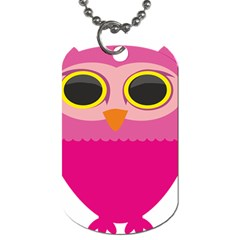 Sowa Owls Bird Wild Birds Pen Dog Tag (two Sides) by Sapixe