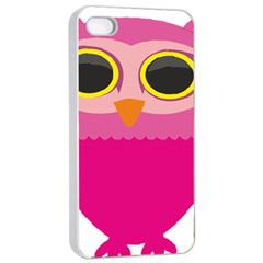 Sowa Owls Bird Wild Birds Pen Apple Iphone 4/4s Seamless Case (white)