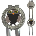 Sowa Owls Bird Wild Birds Pen 3-in-1 Golf Divots Front