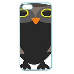 Sowa Owls Bird Wild Birds Pen Apple Seamless Iphone 5 Case (color)