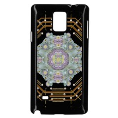 Butterflies And Flowers A In Romantic Universe Samsung Galaxy Note 4 Case (black) by pepitasart