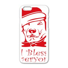 Dog Santa Hat Winter Christmas Apple Iphone 6/6s White Enamel Case by Sapixe