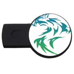 Wolf Dog Fox Animal Pet Vector Usb Flash Drive Round (2 Gb) by Sapixe