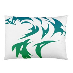 Wolf Dog Fox Animal Pet Vector Pillow Case by Sapixe