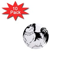 Animal Canine Dog Japanese Chin 1  Mini Magnet (10 Pack)