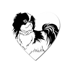 Animal Canine Dog Japanese Chin Heart Magnet by Sapixe