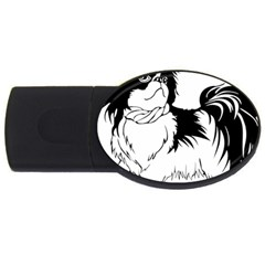 Animal Canine Dog Japanese Chin Usb Flash Drive Oval (2 Gb) by Sapixe