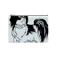 Animal Canine Dog Japanese Chin Cosmetic Bag (medium)  by Sapixe