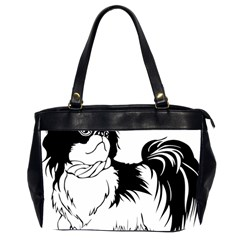 Animal Canine Dog Japanese Chin Office Handbags (2 Sides)  by Sapixe