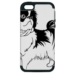 Animal Canine Dog Japanese Chin Apple Iphone 5 Hardshell Case (pc+silicone)