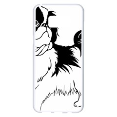 Animal Canine Dog Japanese Chin Samsung Galaxy S8 Plus White Seamless Case