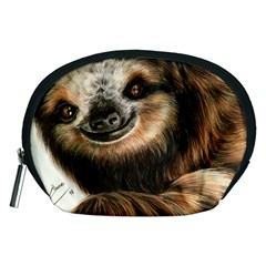 Sloth Smiles Accessory Pouches (medium)  by ArtByThree