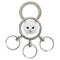 Cat Animal Pet Kitty Cats Kitten 3 Ring Key Chains by Sapixe