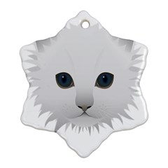 Cat Animal Pet Kitty Cats Kitten Snowflake Ornament (two Sides) by Sapixe